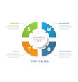 swot diagram infographic for business vector image vector image