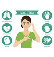 symptoms of panic attack vector image