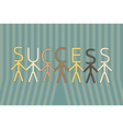 Team work to success vector image