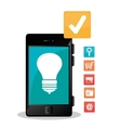 Technology mobile applications vector image vector image