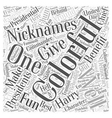The Most Colorful Presidential Nicknames Word vector image vector image