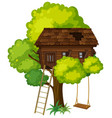 treehouse with swing on the tree vector image vector image