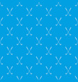 two golf clubs pattern seamless blue vector image vector image
