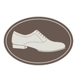 Vintage men shoe label vector image