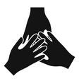volunteer hands icon simple style vector image