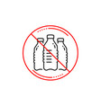 water bottles line icon still aqua sign vector image