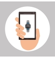 Wearable technology design wireless icon Flat vector image vector image