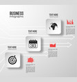 web business infographics vector image