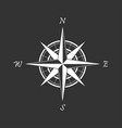 white compass icon on a black background vector image vector image