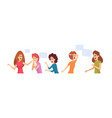 women talking girl therapy group happy sad vector image vector image