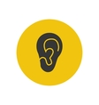 Ear silhouette vector image
