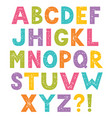 cartoon alphabet letters with stamped texture vector image