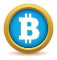 Gold Bitcoin icon vector image