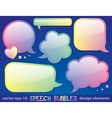 glossy speech bubbles vector image