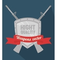 Guns and weapons vector image