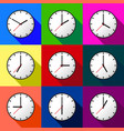 set clock icon design eps10 vector image