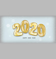 2020 happy new year vector image