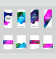 abstract colorful liquid and fluid cover design vector image vector image