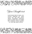 abtract black and white border vector image vector image