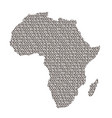 africa map abstract schematic from black ones and vector image