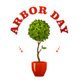 arbor day sign vector image vector image
