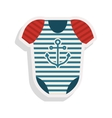 baby boy bodysuit vector image