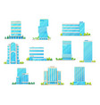 bank office and business center buildings vector image vector image