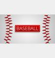 baseball sport concept banner cartoon style vector image vector image