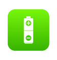 battery icon digital green vector image vector image