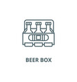 beer box line icon beer box outline sign vector image vector image