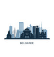 belgrade skyline monochrome silhouette vector image vector image
