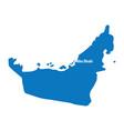 blue similar uae map united arab emirates vector image