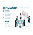 business meeting landing company managers vector image vector image