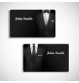 Businessman suit card set vector image