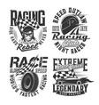 car racing club motorsport team t-shirt prints vector image vector image