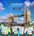 Career in Business concept with Doodle design vector image