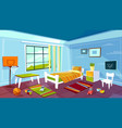 child room cartoon of kid boy vector image