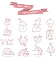Collection stock Merry Christmas icons vector image vector image