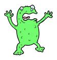 comic cartoon frightened frog vector image vector image