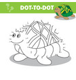connect dots to draw animal educational vector image vector image