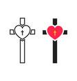 crucifix cross vector image vector image