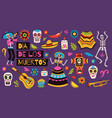 day of dead elements holiday mexican decor vector image