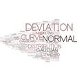 deviation word cloud concept vector image vector image