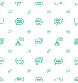 dialog icons pattern seamless white background vector image vector image