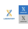 DNA logo Technology biology icon vector image vector image