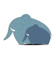 elephant with small elephant vector image