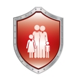Family protection insurance vector image