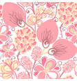 floral seamless pattern hand drawn flowers vector image vector image
