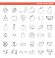 food icons line vector image vector image