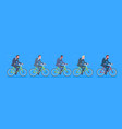 group mix race business men wearing suits ride vector image